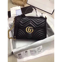 GUCCI GG MARMONT Leather HANDBAG Shoulder Bag