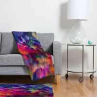 Amy Sia Sunset Storm Fleece Throw Blanket