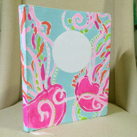 Lilly Pulitzer Jellies Be Jammin' Lined Monogrammed Notebook