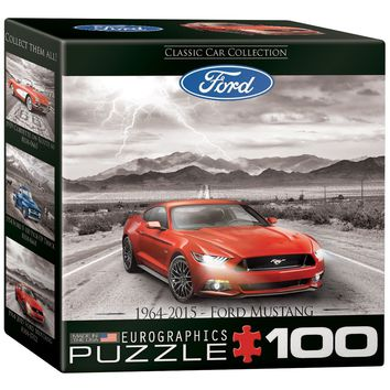2015 Ford Mustang GT - Fifty Years of Power - 100 Piece Mini Jigsaw Puzzle