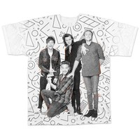 One Direction All-Over Band White T-Shirt - Small