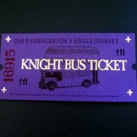 Harry Potter Knight Bus Ticket by writtenbysanta on Etsy