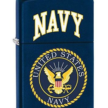 US NAVY Style1 Zippo Outdoor Indoor Windproof Lighter Free Custom Personalized Engraved Message Permanent Lifetime Engraving on Backside