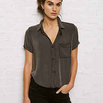 Don't Ask Why Short-Sleeve Button-Down Shirt, Black