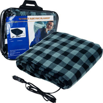 Trademark? Plaid Electric Blanket for Automobile - 12 volt