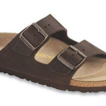 Women's Arizona Sandal with Oiled Leather in Habana by Birkenstock