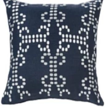 Cowgirl Kim Kavali Woven Navy Accent Pillow