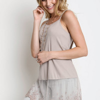 Umgee Lace For Days Tank Top Shirt Extender