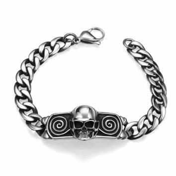 Shiny Gift Awesome Great Deal Stylish New Arrival Men Skull Hot Sale Punk Bracelet [10783254595]