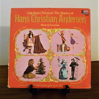 Vintage 1967 Vinyl Album Walt Disney Presents The Stories of Hans Christian Andersen - Four (4) Classic Stories and a Coloured Book
