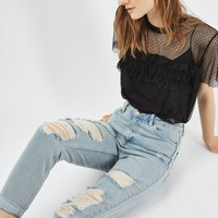MOTO Super Rip Mom Jeans - Jeans - Clothing