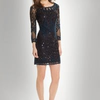 Short Beaded Two-Tone Dress from Camille La Vie and Group USA