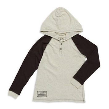 Guess Boys 8-20 Hooded Henley Shirt