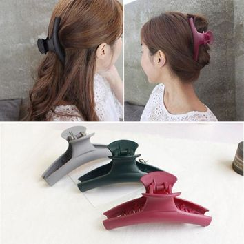 ESBONJ 2017 New Fashion Simple Hair Clip Hair Claw Hair accessories for Women Hair Crab Clamp Big frosted acrylic clip Headwear