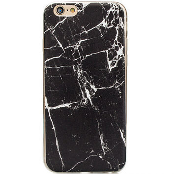 Natural Black Marble Grain iPhone 5s 6 6s Plus creative case Gift-129