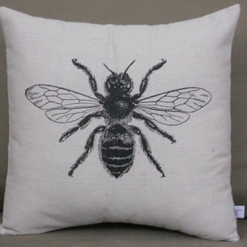 BEE Pillow 14x14 Throw Pillow by countercouturedesign on Etsy