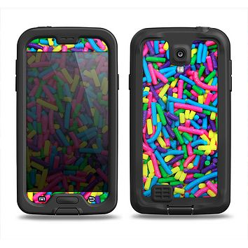 The Neon Sprinkles Samsung Galaxy S4 LifeProof Fre Case Skin Set