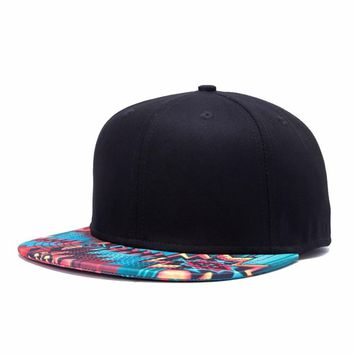 Fashion Wavy Grain Print Mens Women Adjustable Snapback Hats ,Hip-Hop Flat Bill Cheap Baseball Cap , Hot Dad Caps Freeshipping
