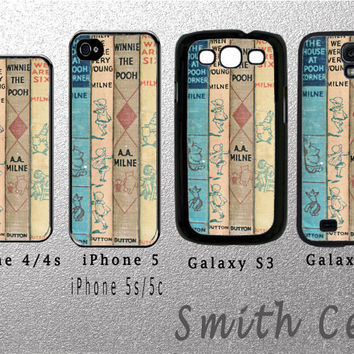 vintage winnie the pooh cover book design For iPhone 5, iPhone 5S, iPhone 5C or iPhone 4/4s, Galaxy S4 Case or Galaxy S3 Case