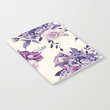 Purple floral boho pattern Notebook by printapix