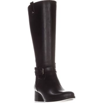 naturalizer Dev Riding Boots, Black, 9 W US
