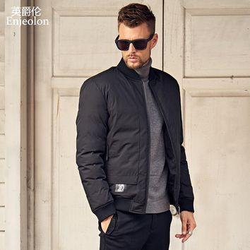 new Cotton Padded Jacket coat Men stand collar Windproof Parka black solid Thick Quilted fashion Coat Men
