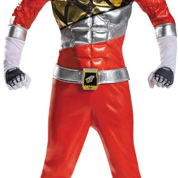 Power Rangers Dino Charge: Red Ranger Prestige Child Costume - Small (4-6)