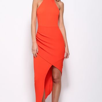 Key To The City Maxi Dress Burnt Orange