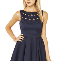 Bermuda Triangle Dress in Navy