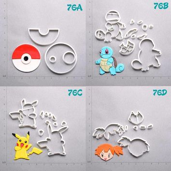 Game  Character Cookie Cutter Tools Squirtle Pikachu Snorlax Metwo Face Fondant Cupcake Top Made 3D Printed Cake MouldKawaii Pokemon go  AT_89_9