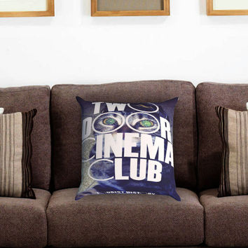 Two Door Cinema Club Pillow Cover , Custom Zippered Pillow Case One Side Two Sides