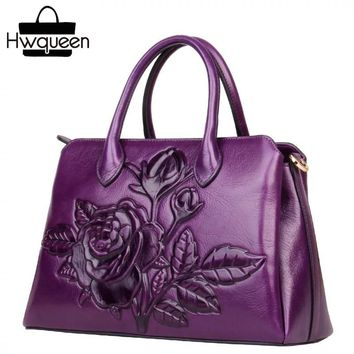 d62618741f Vintage Embossed Design Genuine Leather Female Shopping Totes Ha.   Item  Type  Handbags ...