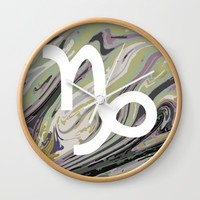 Capricorn Wall Clock by KJ Designs