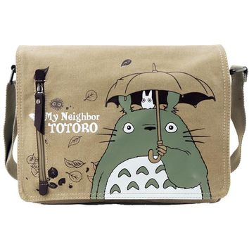 Totoro Khaki Anime Shoulder Bag