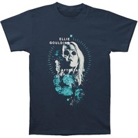 Ellie Goulding Men's  Split Skull Tee T-shirt Blue