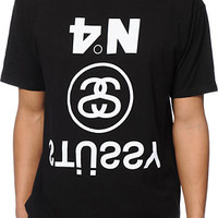 Stussy Upside Down Black Tee Shirt