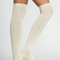 IVORY KNEE HIGH SOCKS