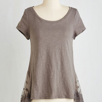 Mid-length Short Sleeves Follow That Daydream Top by ModCloth