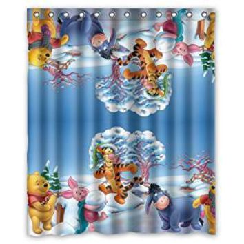 Kids Cartoon Tiger Pooh Eeyore waterproof shower curtains bathroom products polyester 160x180cm bathroom shower curtain