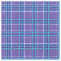 Slate Blue Violet Plaid Pattern Fabric