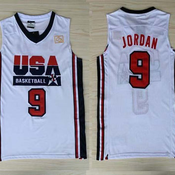 Fast shipping,Stitched High quality 1992 USA dream team basketball jerseys