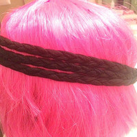 Black Triple Layer Braid Head Band - Free Shipping
