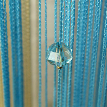 Chic Beaded Curtain Crystal Divider Decorative String Door Window Room Panel