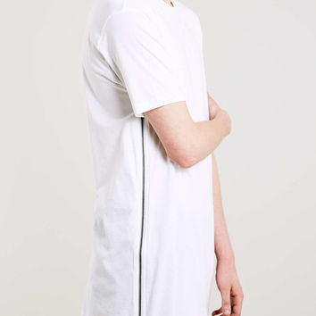White Long Line Fit Zips Tee - Multi Packs - Clothing