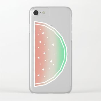 Watermelon Clear iPhone Case by eDrawings38