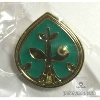 Pokemon Center 2015 Metal Collection Gym Badge Special Plant Pin Badge