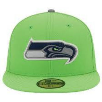 3158f7f6f Seattle Seahawks NFL New Era 59Fifty fitted hat NWT new with sti