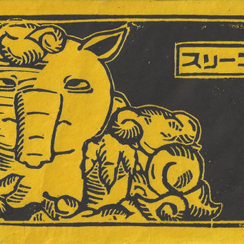 Pokemon Drowzee Japanese inspired print