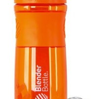 BlenderBottle Classic Shaker Bottle, 28-ounce, Clear/Orange