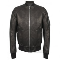 Indie Designs Rick owens Inspired Leather Bomber Ma-1 Jacket